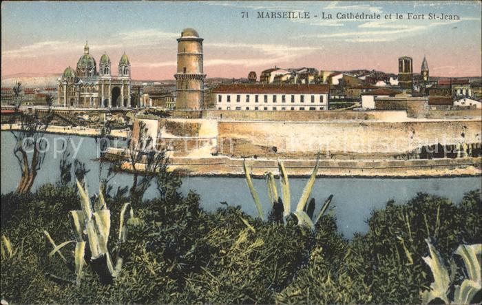 Marseille Cathedrale et Fort Saint Jean Kat. Marseille