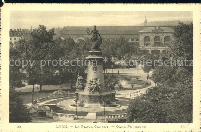 Lyon France Place Carnot Gare Perrache Monument Statue Kat. Lyon