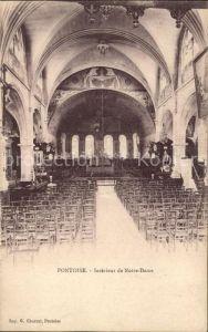 Pontoise  Val d Oise Interieur de Notre Dame Kat. Pontoise