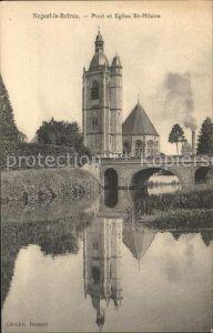 Nogent le Rotrou Pont et Eglise Saint Hilaire Kat. Nogent le Rotrou