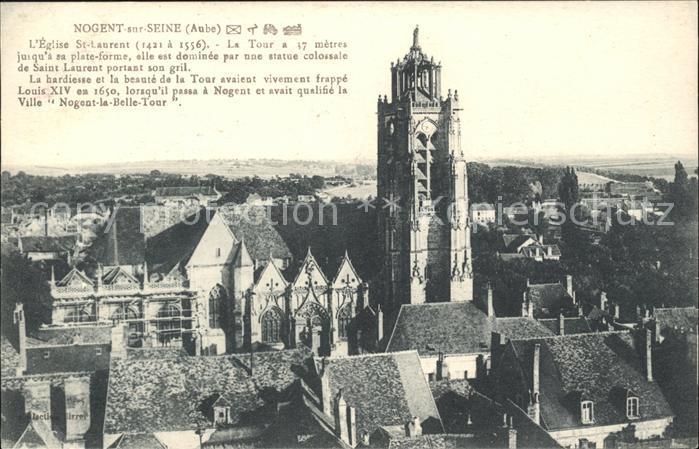 Nogent sur Seine Eglise Saint Laurent 16e siecle Kat. Nogent sur Seine