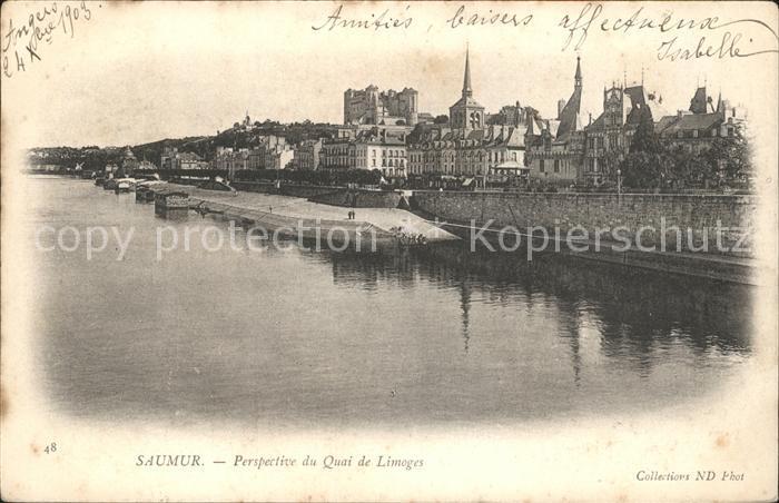 Saumur Perspective du Quai de Limoges Kat. Saumur