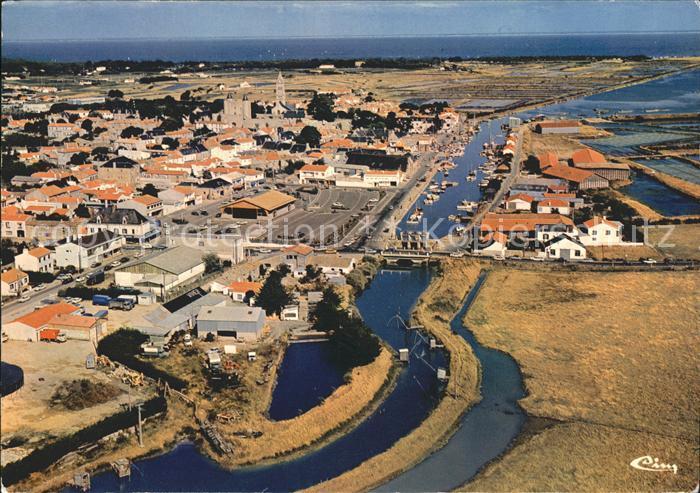Noirmoutier en l Ile Centre de la Ville vue aerienne Kat. Noirmoutier en l Ile