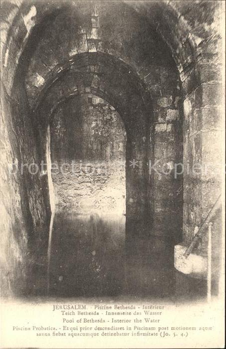 Jerusalem yerushalayim jerusalem teich bethesda pool etang for Piscine de bethesda