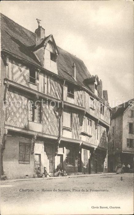 Chartres Eure et Loir Maison du Saumon Place de la Poissonnerie Kat. Chartres