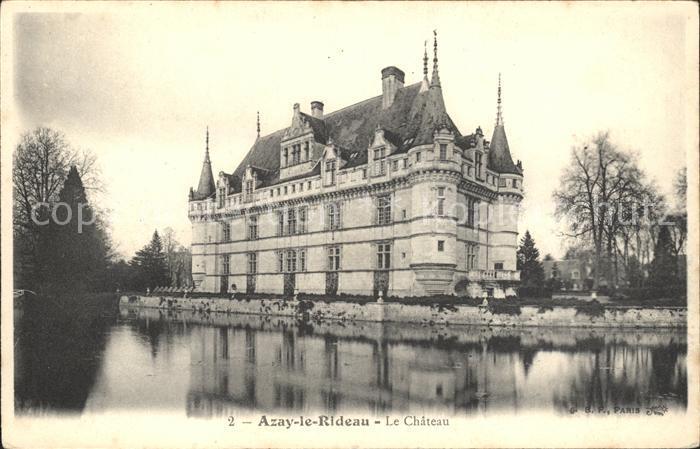 Azay le Rideau Chateau Schloss Kat. Azay le Rideau