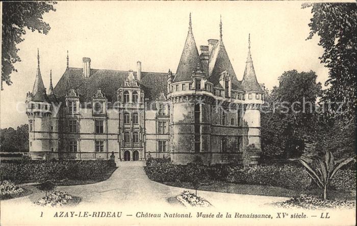 Azay le Rideau Chateau National Musee de la Renaissance Schloss ...
