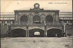 Lyon France Gare de Perrache Bahnhof Kat. Lyon