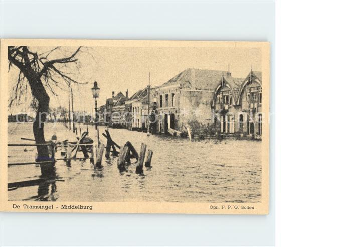 Middelburg Zeeland De Tramsingel Hochwasser Kat. Middelburg