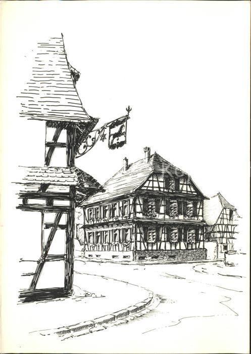 Diersheim Hanauer Strasse Zeichnung Boris Onipenko Kat. Rheinau Nr ...