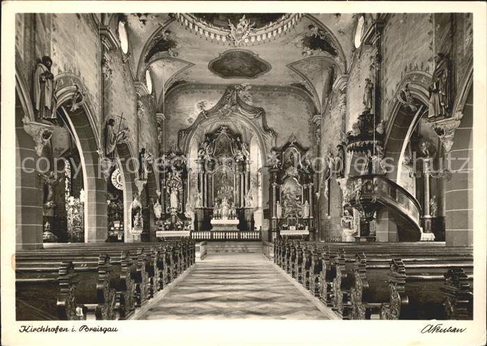 Kirchhofen Breisgau Pfarr  und Wallfahrtskirche  Kat. Ehrenkirchen