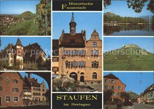 Staufen Breisgau Brunnen Burgruine See Trauben Kat. Staufen im Breisgau