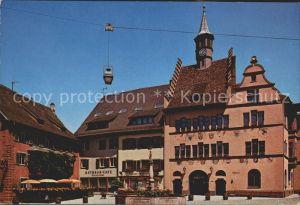 Staufen Breisgau Marktplatz Rathaus Rathaus Cafe  Kat. Staufen im Breisgau