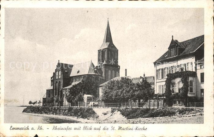 Emmerich Rhein Rheinufer mit St Martini Kirche Kat. Emmerich am Rhein