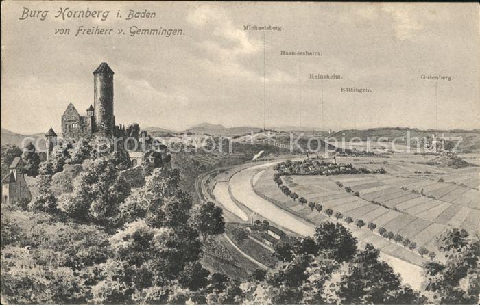 Hornberg Schwarzwald Burg Hornberg Panorama Kat. Hornberg