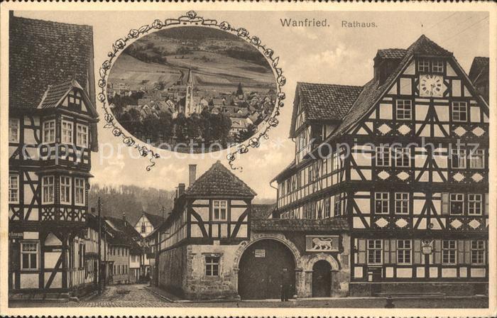 Wanfried Rathaus Kat. Wanfried