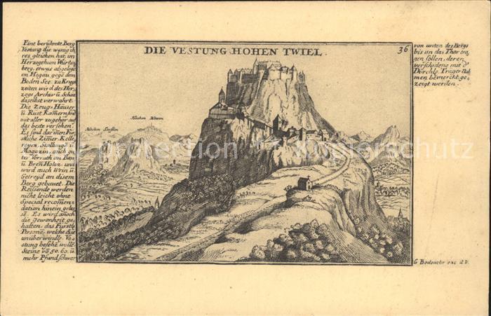 Singen Hohentwiel Festung Hohentwiel Kat. Singen (Hohentwiel)