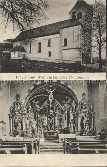 Hondingen Pfarr und Wallfahrtskirche Inneres Kat. Blumberg