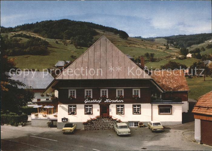 Wieden Schwarzwald Gasthof zum Hirschen Kat. Wieden