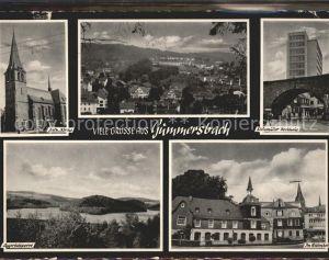 Gummersbach Kath Kirche Ortsansicht Steinmueller Hochhaus Aggertalsperre Im Baumhof Kat. Gummersbach