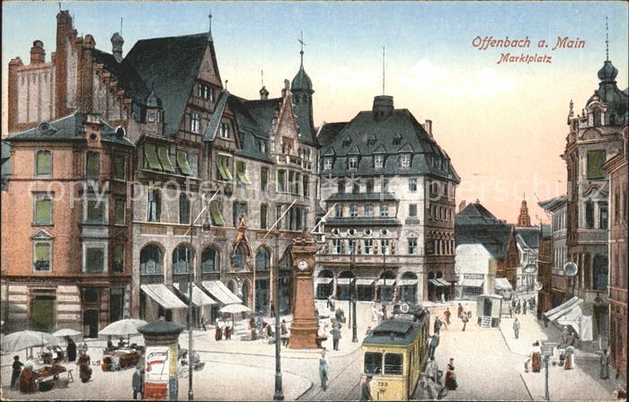 Offenbach main marktplatz strassenbahn kat offenbach am for Werbeagentur offenbach am main