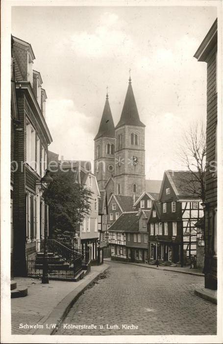 Schwelm Koelnerstrasse Christuskirche Kat. Schwelm
