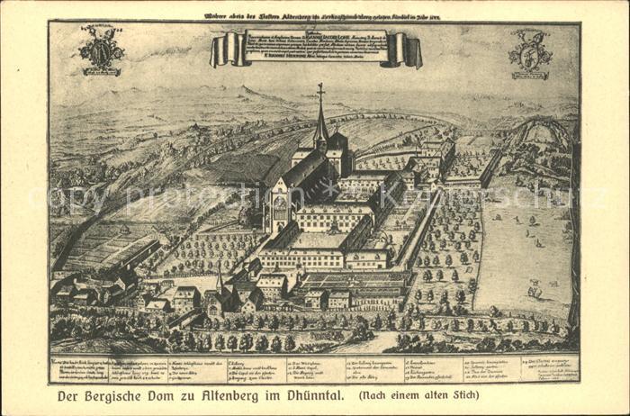 Altenberg Rheinland Dhuenntal Bergischer Dom nach einem alten Stich  Kat. Odenthal