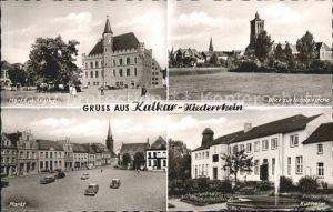 Kalkar Niederrhein Kurheim Markt Rathaus Nicolaikirche Kat. Kalkar
