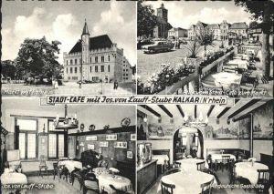 Kalkar Niederrhein Stadt Cafe Joseph von Lauff Stube Markt Rathaus  Kat. Kalkar