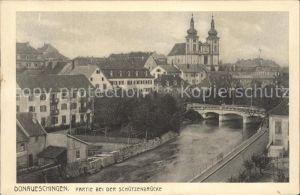 Donaueschingen Partie bei der Schuetzenbruecke Kat. Donaueschingen