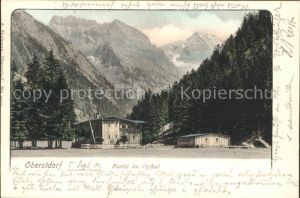 Oberstdorf Partie im Oytal Alpen Kat. Oberstdorf