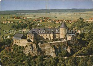 Waldeck Edersee Burghotel Schloss Waldeck Fliegeraufnahme Kat. Edertal