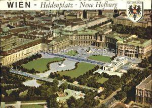 Wien Heldenplatz Fliegeraufnahme Neue Hofburg Kat. Wien