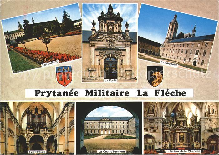 La Fleche Prytanee Militaire Chapelle Jardins Orgues Cour d Honneur Kat. La Fleche