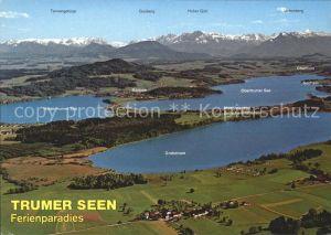 Obertrum See Grabensee Mattsee Niedertrumer See Fliegeraufnahme Kat. Obertrum am See