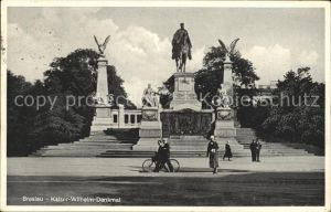 Breslau Niederschlesien Kaiser Wilhelm Denkmal Kat. Wroclaw