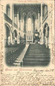 Wittenberg Lutherstadt Schlosskirche Inneres Bahnpost / Wittenberg /Wittenberg LKR