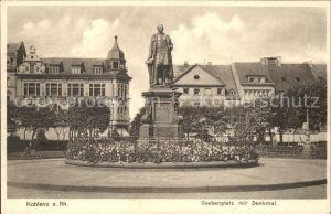Koblenz Rhein Goebenplatz Denkmal  Kat. Koblenz