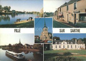 Fille Eglise Moulin Barrage Gros Chesnay Centre du Bourg Vue d ensemble Kat. Fille