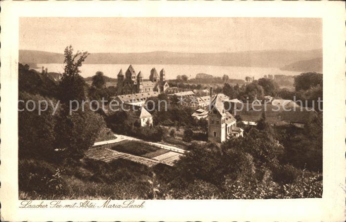 Maria Laach Glees Laacher See mit Abtei / Glees /Ahrweiler LKR