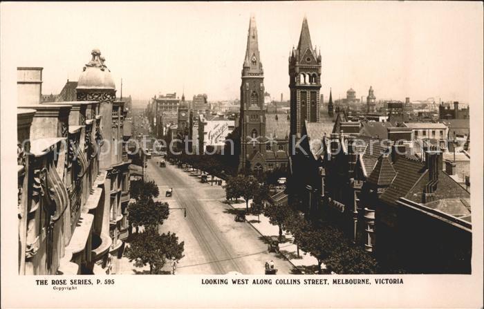 Melbourne Victoria Collins Street Church Rose Series Kat. Melbourne
