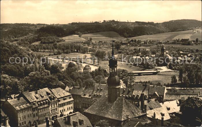 Waldenburg Sachsen Panorama Blick vom Kirchturm Kat. Waldenburg Sachsen