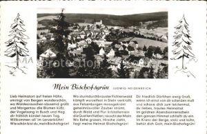 Bischofsgruen Blick Huegelfelsen Gedicht Ludwig Heidenreich Kat. Bischofsgruen