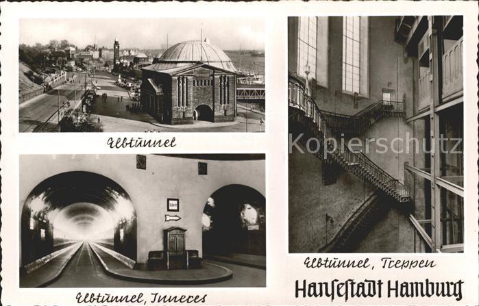 Steinwerder Hamburg Elbtunnel Inneres Treppen / Hamburg /Hamburg Stadtkreis