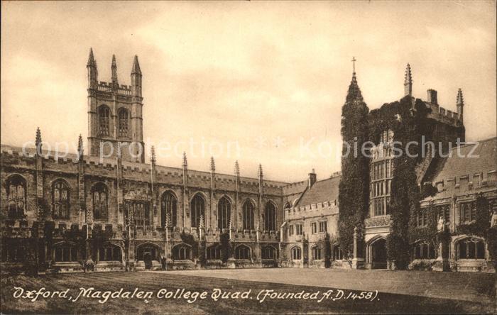 Oxford Oxfordshire Magdalen College Quad  / Oxford /Oxfordshire