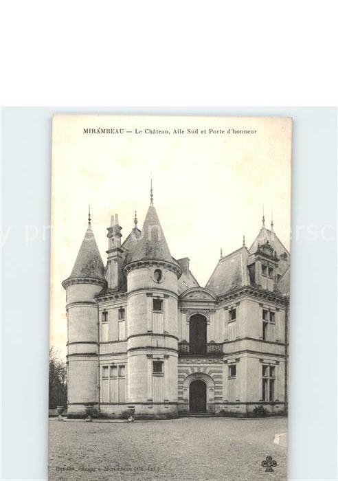 Mirambeau Charente Maritime Chateau Aile Sud et Porte d honneur Kat. Mirambeau