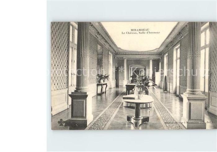 Mirambeau Charente Maritime Chateau Salle d honneur Kat. Mirambeau