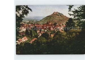 Staufen Breisgau Stadtbild mit Burgruine Kat. Staufen im Breisgau