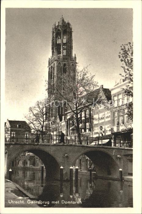 Utrecht Gaardbrug met Domtoren Kat. Utrecht