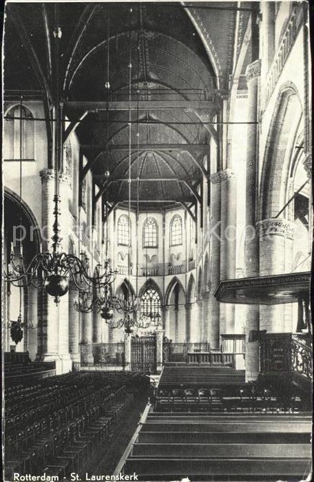 Rotterdam Interieur St Laurenskerk Kirche Kat. Rotterdam Nr. ka90322 ...